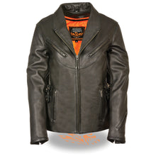 Women's Updated Vented Jacket w/ Side Buckles - HighwayLeather