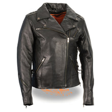 Women's Lightweight Lace to Lace M/C Jacket - highwayleather