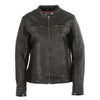 ALYSON - Women's Lightweight Triple Stitch Scooter Jacket w/ Venting - HighwayLeather