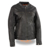 Women's Lightweight Triple Stitch Scooter Jacket w/ Venting - HighwayLeather