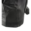 Women Black 3/4 Hooded Leather Jacket with Side Stetch Fit - HighwayLeather