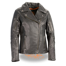 Women's Lightweight Long Length Beltless Vented Biker Jacket - HighwayLeather