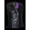Ladies Vest w/ Stud & Wings Detailing - HighwayLeather
