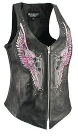 Women Winged Assassin Zipper Front Tank Vest - HighwayLeather