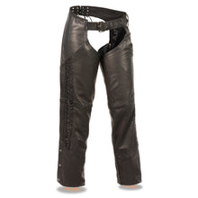Ladies Lightweight Low Rise Chap w/ Crinkled Leg Striping - HighwayLeather