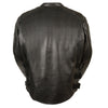 Men's Assault Style Racer Jacket w/ Triple Side Straps - HighwayLeather