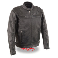 Men's Vented Scooter Jacket w/ Heated Technology - HighwayLeather