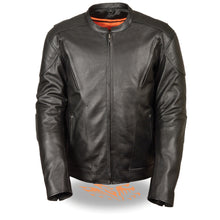 Men's Vented Scooter Jacket w/ Kidney Padding - HighwayLeather