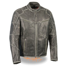 Men's Vintage Distressed Triple Vented Jacket w/ Side Stretch - HighwayLeather