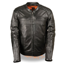Men's Quilted Pattern Triple Vent Scooter Jacket - HighwayLeather