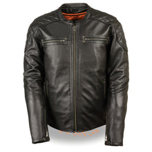 Men's Full Side Lace Vented Scooter Jacket - HighwayLeather