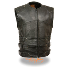 Men's Updated SWAT Style Biker Vest - highwayleather