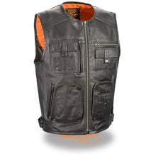 Men's Zipper Front Super Utility Multi Pocket Vest - highwayleather
