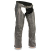 Men's Vintage Distressed Slate Chap w/ Deep Thigh Zippered Pockets - HighwayLeather