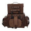 Large Antique Brown Four Piece Studded PVC Touring Pack w/ Barrel Bag (18X16X9) - HighwayLeather