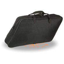 Large Textile Slant Saddle Bag Liner w/ Carry Handle (19x11x6) - HighwayLeather