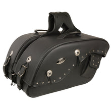 Medium Cruiser Style Riveted Throw Over Saddle Bag (13X10X6X19) - HighwayLeather