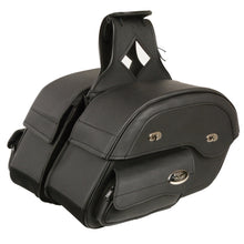 Cruiser Style Slant Pouch Throw Over Saddle Bag (14X10X5.5X18) - HighwayLeather