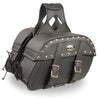 Medium Zip-Off Pvc Studded Throw Over Saddle Bag (10.5X15X6X18) - HighwayLeather