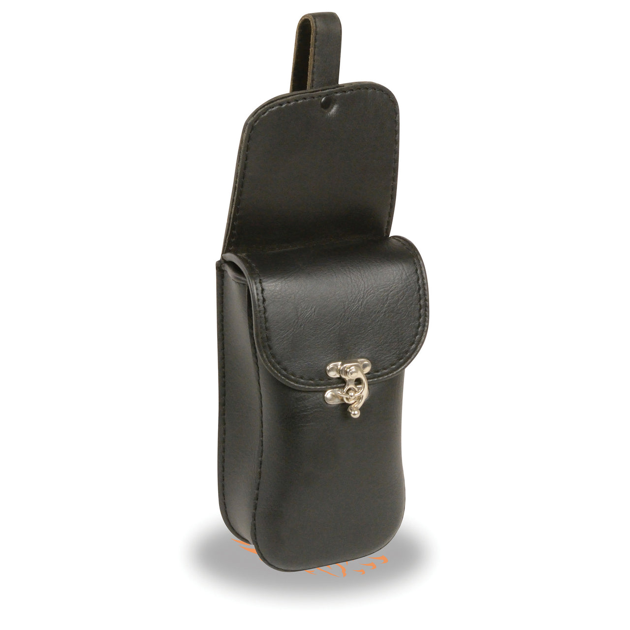 PVC Cell Phone/Cigarette Holder w/ Bag Hook & Clasp Closure (12X4.5) - HighwayLeather