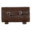 Two Buckle Antique Brown PVC Studded Tool Bag w/ Quick Release (10X4.5X3.25) - HighwayLeather