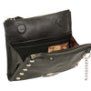 Leather Studded Wallet Shoulder Bag - HighwayLeather