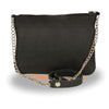 Ladies Chain Strap Riveted Shoulder Bag w/ Gun Pocket - HighwayLeather