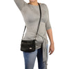 Ladies Double Zipper Leather Shoulder Bag - HighwayLeather