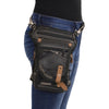 Conceal & Carry Black Leather Thigh Bag w/ Waist Belt - HighwayLeather