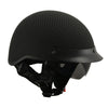 MPH DOT Helmet w/ Drop Sun Visor Carbon Fiber Look Matte Black - HighwayLeather