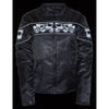 Women's Crossover Textile Scooter Jacket w/ Reflective Skulls - HighwayLeather