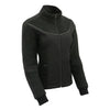 Women Textile & Fleece Combo jacket w/ Reflective Detailing - HighwayLeather