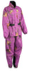 Ladies Purple Mossy Oak® Camo Rain Suit Water Proof w/ Reflective Piping - HighwayLeather