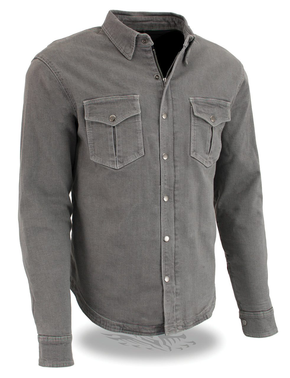 Men's Armored Denim Biker Shirt w/ Aramid® by DuPont™ Fibers - HighwayLeather