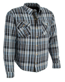 Men's Armored Flannel Biker Shirt w/ Aramid® by DuPont™ Fibers - HighwayLeather