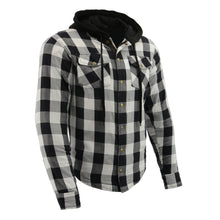 Men's Armored Checkered Flannel Biker Shirt w/ Aramid® by DuPont™ Fibers - HighwayLeather
