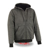 Men's Zipper Front Heated Hoodie w/ Front & Back Heating Elements - HighwayLeather