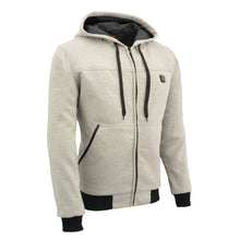 Mens Zipper Front Heated Hoodie w/ Front & Back Heating Elements - HighwayLeather