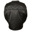 Men's Reflective Skulls Textile Jacket - HighwayLeather