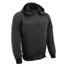Mens Soft Shell Heated Racing Style Jacket w/ Detachable Hood - HighwayLeather