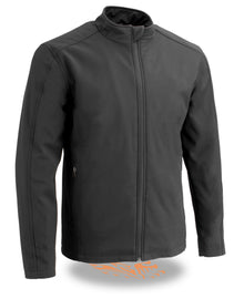 Men's Waterproof Lightweight Zipper Front Soft Shell Jacket - HighwayLeather
