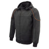 Mens Soft Shell Armored Racing Style Jacket w/ Detachable Hood - HighwayLeather