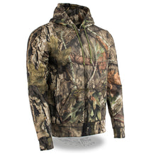 Men's Zipper Front Mossy Oak® Camouflage Hoodie - HighwayLeather