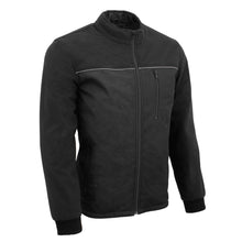 Mens Textile & Fleece Combo jacket w/ Reflective Detailing - HighwayLeather