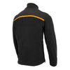 Mens Micro Fleece Zipper Front Jacket w/ Orange Stripe - HighwayLeather