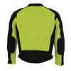 Men's High Visibility Mesh Racer Jacket w/ Removable Rain Jacket Liner - HighwayLeather