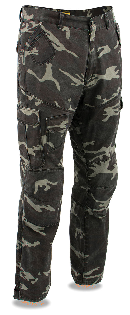 Men's Armored Camo Cargo Jeans Reinforced w/ Aramid® by DuPont™ Fibers - HighwayLeather