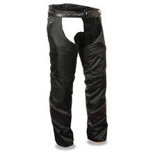 Men's Vented Textile Chap w/ Leather Trim and Snap-Out Liner - HighwayLeather