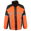 Men's Water Resistant Rain Suit w/ Hi Vis Reflective Tape - HighwayLeather