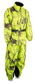 Men's Hi Vis Mossy Oak® Camo Rain Suit Water Proof w/ Reflective Piping - HighwayLeather